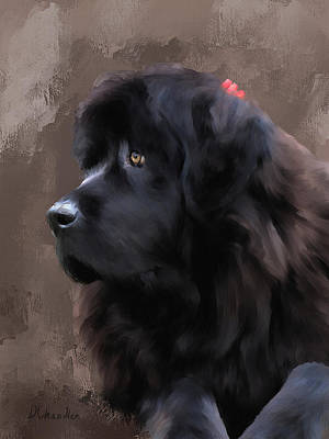 Newfie Digital Art - Marlene by Diane Chandler