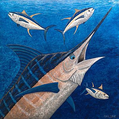 Tropical Fish Painting - Marlin And Ahi by Carol Lynne