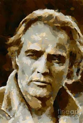 Portrait Painting - Marlo Brando by Dragica Micki Fortuna