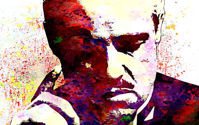 Marlon Brando Print by Elena Kosvincheva