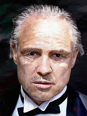 Marlon Brando Print by James Shepherd