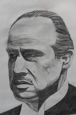 Etc Drawing - Marlon Brando by Premnath Mohan