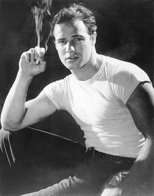 Marlon Brando, Portrait From A Print by Everett