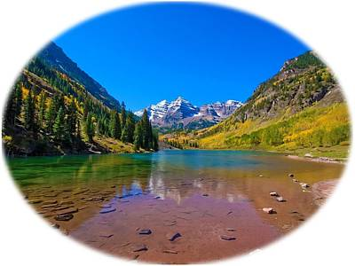 Snow Photograph - Maroon Bells by Doug Oriard