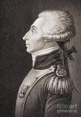 Marquis De Lafayette Print by American School