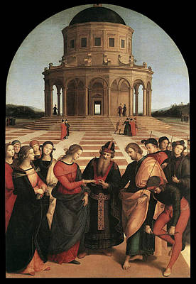 Marriage Of The Virgin - 1504 Print by Raphael
