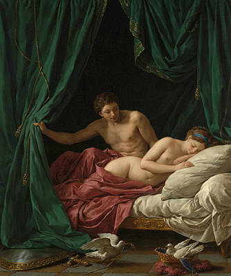 Goddess Mythology Painting - Mars And Venus by Louis-Jean-Francois Lagrenee