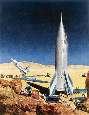 Space Exploration Photograph - Mars Mission, 1950s by Granger