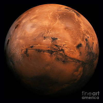Mars The Red Planet Print by Edward Fielding