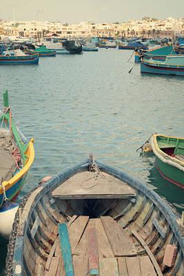 Malta Photograph - Marsaxlokk - Malta by Cambion Art