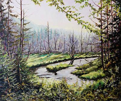 Finding Fine Art Painting - Marsh Lands by Richard T Pranke