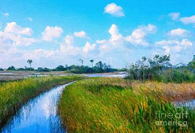 Painting - Marsh Trail by Tammy Lee Bradley