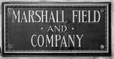 Historic Chicago Photograph - Marshall Field Plaque by Steve Gadomski