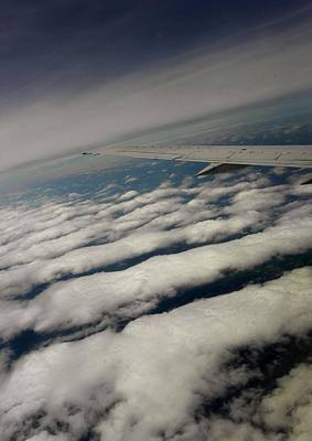 Airlines Photograph - Marshmallow Clouds by Elizabeth Hoskinson