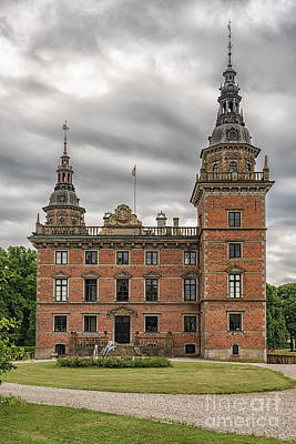 Outlook Photograph - Marsvinsholms Slott In Skane by Antony McAulay