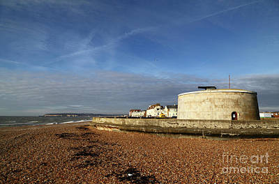Martello Tower At Seaford Sussex Print by James Brunker