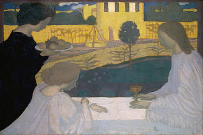 Martha Mary Painting - Martha And Mary by Maurice Denis