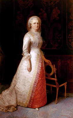Martha Dandridge Custis Washington Print by Eliphalet Frazer Andrews