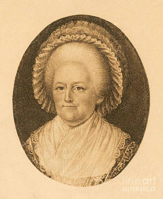 Martha Washington, American Patriot Print by Photo Researchers