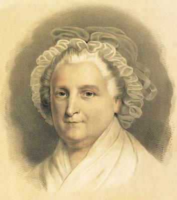 American History Drawing - Martha Washington by American School