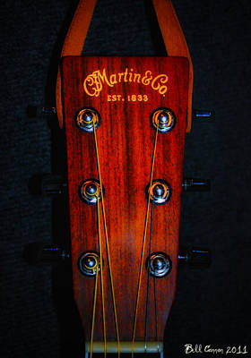 Musical Digital Art - Martin And Co. Headstock by Bill Cannon