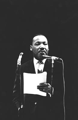 Martin Luther King Jr Print by American School