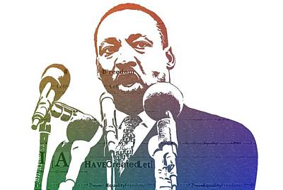 Martin Luther King Jr Print by Dan Sproul