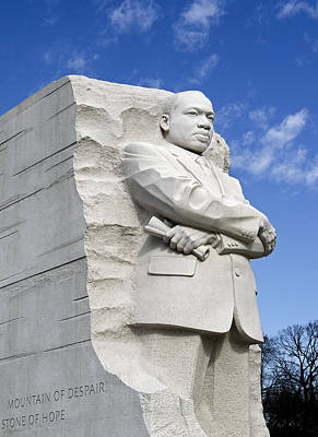 Martin Luther King Jr Memorial In Washington Dc Print by Brendan Reals