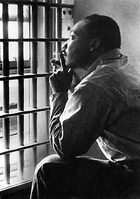 Freedom Photograph - Martin Luther King, Jr, Sitting by Everett