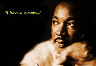 Detroit Legends Digital Art - Martin Luther King Watercolor by Enki Art