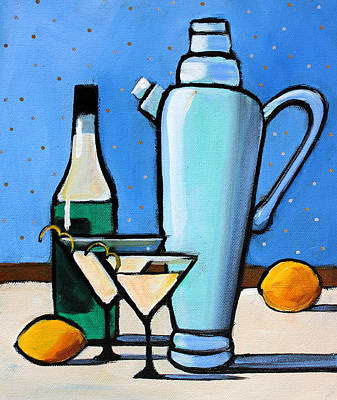 Cocktails Painting - Martini Night by Toni Grote