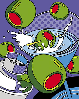 Martini Time Print by Ron Magnes