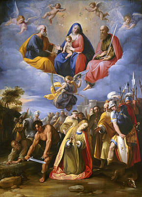 Painting - Martyrdom Of Saint Margaret by Giuseppe Cesari