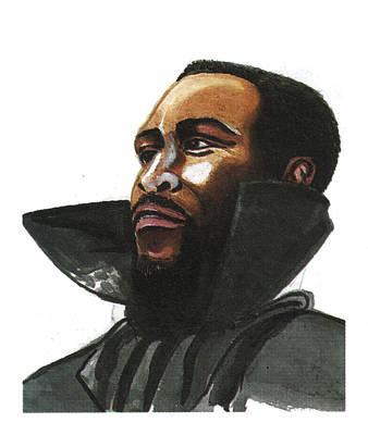 Soul Singer Drawing - Marvin Gaye by Emmanuel Baliyanga