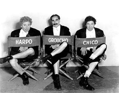 Groucho Marx Photograph - Marx Brothers - Harpo Marx, Groucho by Everett