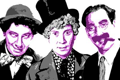 Groucho Marx Digital Art - Marx Brothers by DB Artist