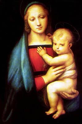 Mary And Baby Jesus Print by Munir Alawi