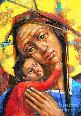 Mary And Son Original by Michal Kwarciak