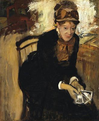 Cassatt Painting - Mary Cassatt by Edgar Degas
