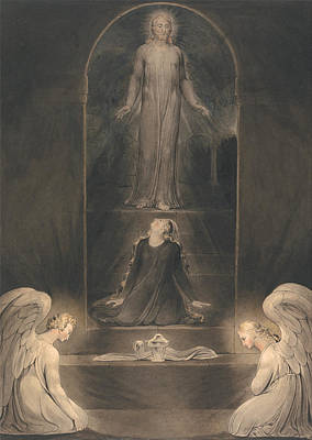 Mary Magdalen At The Sepulcher Print by Mountain Dreams