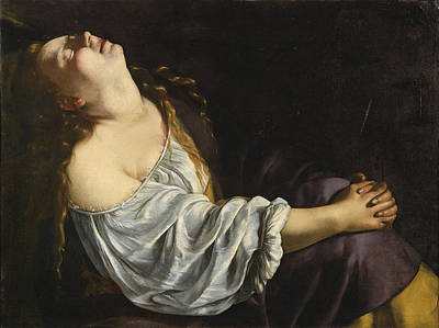 Mary Magdalene Painting - Mary Magdalene by Artemisia Gentileschi