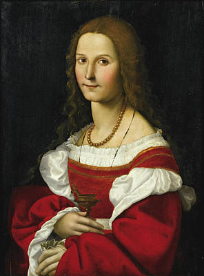 Giovanni Francesco Caroto Painting - Mary Magdalene by Attributed to Giovanni Francesco Caroto