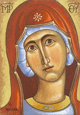 Egg Tempera Painting - Mary Mother Of Jesus by Mariela Constantinidis