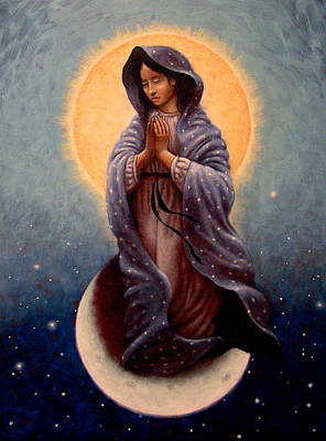Traditional Painting - Mary Queen Of Heaven by Timothy Jones