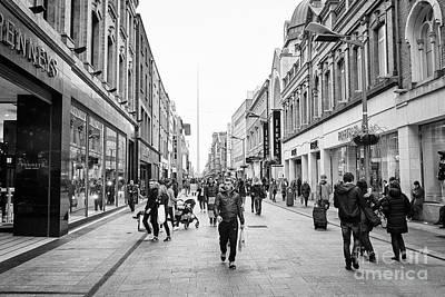 Jervis Photograph - mary street and jervis shopping centre pedestrian shopping area dublin city centre Ireland by Joe Fox