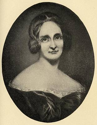 Mary Wollstonecraft Shelley, 1797-1861 Print by Vintage Design Pics