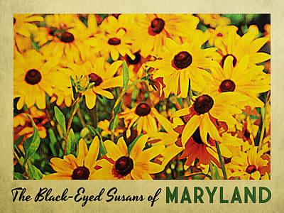 Maryland Black-eyed Susans Print by Flo Karp