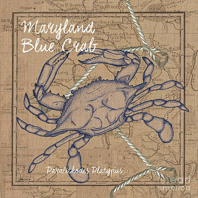 Maryland Blue Crab Print by Debbie DeWitt