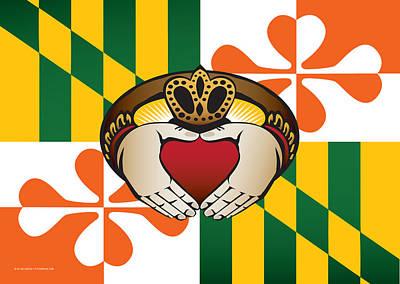 Maryland Irish Claddagh Art Print by Joe Barsin