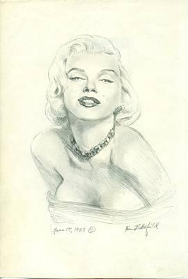 Norma Jean Drawing - Marilyn by Kean Butterfield